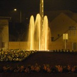 Roundabout fountain